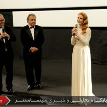 32Thierry Fremaux, Jim Gianopoulos and Jessica Chastain - Presentation - Cleopatra