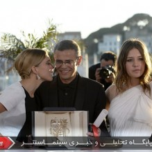 22Lea Seydoux, Abdellatif Kechiche and Adele Exarchopoulos - Photocall - Palme d'or
